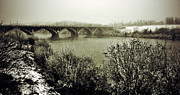 Bridge Greeting Cards Prints - South Saskatchewan  Print by Jerry Cordeiro