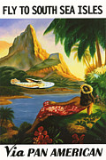 Polynesia Prints - South Sea Isles Print by Nomad Art And  Design