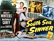 Seductress Prints - South Sea Sinner, Shelley Winters Print by Everett