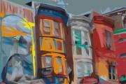 Philadelphia Digital Art - South Street Revisited by Kevin  Sherf