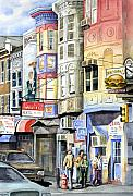 Hamburger Painting Metal Prints - South Street Metal Print by Sam Sidders