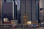 Skyscapers Prints - South Street Seaport Print by Chris Lord