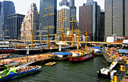 Nyc Digital Art - South Street Seaport -NYC by Linda  Parker