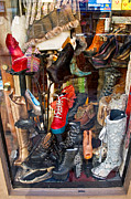 South Philadelphia Prints - South Street Shoes Print by Terry Finegan