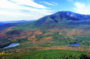 Mount Katahdin Prints - South Turner Mountain Katahdin View Print by John Burk