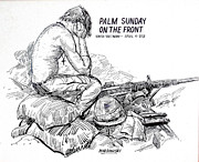 Military Hero Drawings - South Vietnam Veteran by Bill Joseph  Markowski
