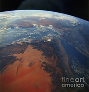 Space Shuttle Endeavor Prints - South-western Arabian Peninsula Print by NASA / Science Source