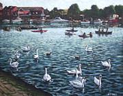 Southampton Riverside Park River Itchen Print by Martin Davey