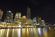 Buidlings Framed Prints - Southbank Melbourne at Night Framed Print by Douglas Barnard