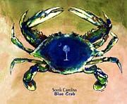 Southcarolina Blue Crab Print by Eddie Glass