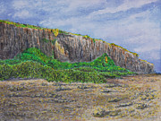 Southside Painting Posters - Southeast Edge of Bluff at Sunset Poster by Monte Lee Thornton