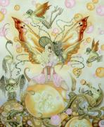 Faery Posters Paintings - Southern Bellepunk Just Peachy by Ora Moon