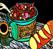 Gumbo Paintings - Southern Comfort by Amy Carruth-Drum