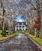 Tree-lined Posters - Southern Gothic Poster by Bill Cannon