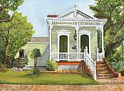 Brick House Posters - Southern Louisiana Charm Poster by Elaine Hodges