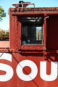 Old Caboose Photo Metal Prints - Southern Pacific Caboose - 5D19235 Metal Print by Wingsdomain Art and Photography