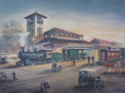 Charlotte Painting Prints - Southern Railway Print by Charles Roy Smith