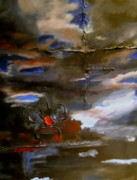 Storm Clouds Paintings - Southern Storm 2011 by Nyiece Pregeant Owens