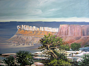 Pinion Paintings - Southern Utah Butte by Matthew Chatterley