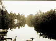 Glass Plate Originals - Southington Reservoir by Jan Faul