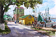 Harbors Framed Prints - Southport Yacht Basin Framed Print by Tony Van Hasselt