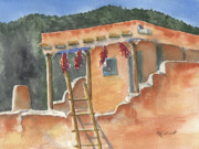Southwest Adobe Print by Marsha Elliott