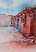 Donna Pierce-clark Art - Southwest Adobe Ristra by Donna Pierce-Clark