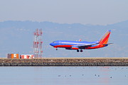 Airplane Prints - Southwest Airlines Jet Airplane At San Francisco International Airport SFO . 7D12089 Print by Wingsdomain Art and Photography