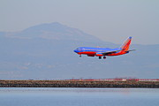 Airplane Prints - Southwest Airlines Jet Airplane At San Francisco International Airport SFO . 7D12175 Print by Wingsdomain Art and Photography