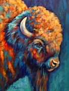 American Bison Prints - Southwest Bison Print by Theresa Paden