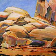 Canyons Painting Prints - Southwest Stillness 3 Print by Melody Cleary