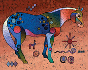 Surrealistic Painting Originals - Southwestern Symbols by Bob Coonts