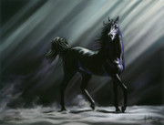 Horse Pastels Metal Prints - Sovereign Metal Print by Kim McElroy