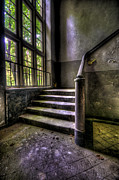 Haunted House Photos - Soviet barracks steps by Nathan Wright