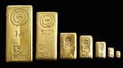 Precious Metal Art - Soviet Gold Bars by Ria Novosti