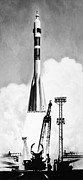 Ambition Framed Prints - Soviet Soyuz Rocket, 1975 Framed Print by Granger
