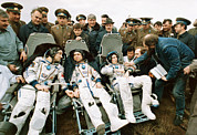 Astronauts Photos - Soyuz Tm-7 Mission Cosmonauts by Ria Novosti