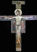 13th Century Photos - SOZIO: CRUCIFIX, 13th C by Granger