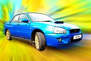 Subaru Impreza Prints - Sp33d Print by Sharon Lisa Clarke