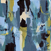 Denim Posters - Spa Abstract 1 Poster by Debbie DeWitt