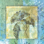 Spa Prints - Spa Gingko Postcard  2 Print by Debbie DeWitt