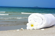 Beach Towel Prints - Spa still-life Print by MotHaiBaPhoto Prints