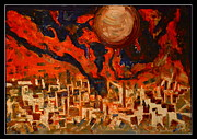 Oils Originals - Space Abstraction-3 by Anand Swaroop Manchiraju