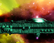 Ark Prints - Space Ark Print by Victor Habbick Visions