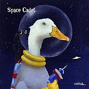 Outer Space Posters - Space cadet... Poster by Will Bullas