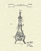 Escape Drawings Metal Prints - Space Capsule 1961 Patent Art #1 Metal Print by Prior Art Design