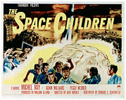 1950s Poster Art Framed Prints - Space Children, Poster Art, 1958 Framed Print by Everett