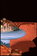 Colonisation Prints - Space Colony On Mars Print by Victor Habbick Visions