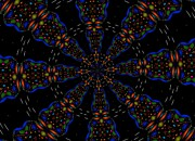 Flower Kaleidoscopes Posters - Space Flower Poster by Alec Drake