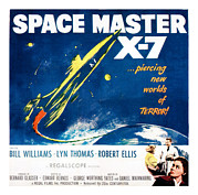 1950s Poster Art Framed Prints - Space Master X-7, Poster Art, 1958 Framed Print by Everett
